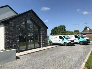 Coatek vans at house
